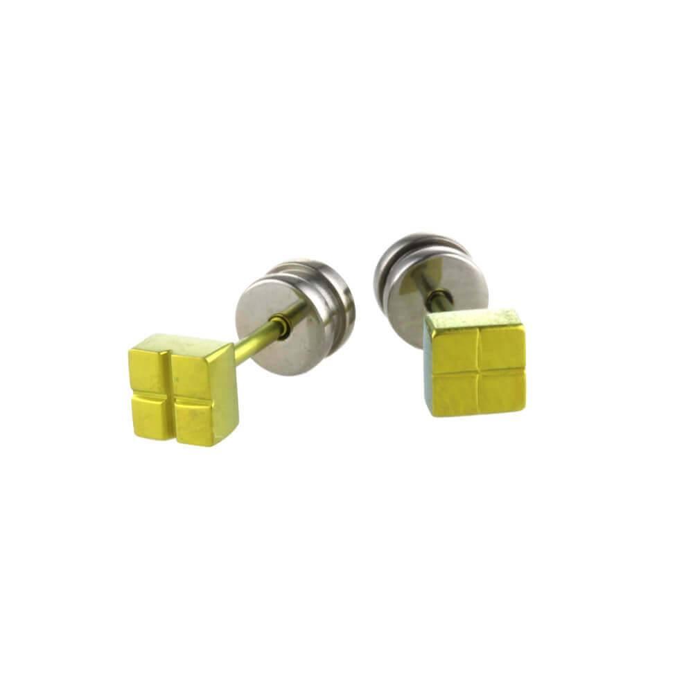 Naisz Titanium Design Stud Yellow 2017309-52