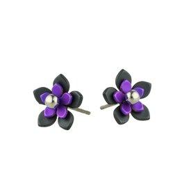 Naisz Titanium Design Flowers Black 2017349-63 - Copy - Copy - Copy