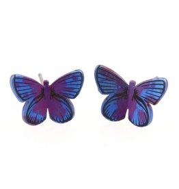 Titanium Design Butterfly Maroon Blue 2017382