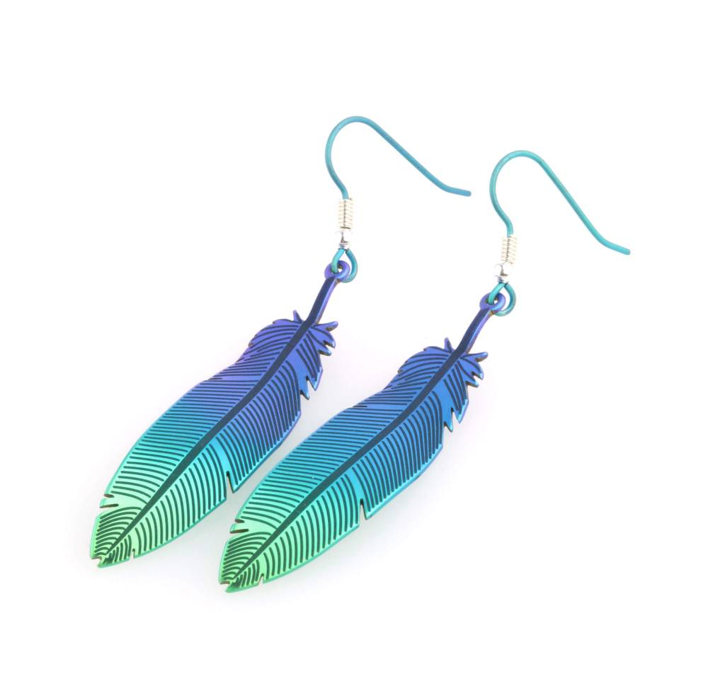 Titanium Design Feather 2017472-Green-Blue