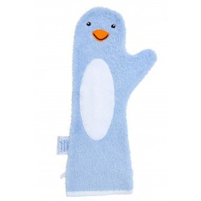Baby Shower Glove blauw - pinguïn