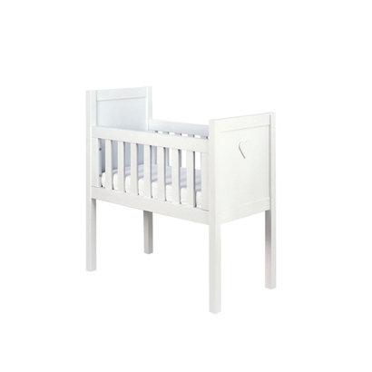 Bopita Wiegje - Hart Basic Wood White Wash