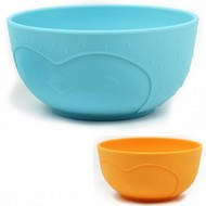 JJ Rabbit Anibowls kommetjes oranje en blauw