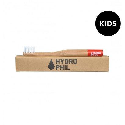 Hydrophil bamboe tandenborstel Kids rood