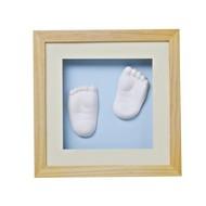 Baby Memory Prints 3D Lijst met gipsafdruk naturel