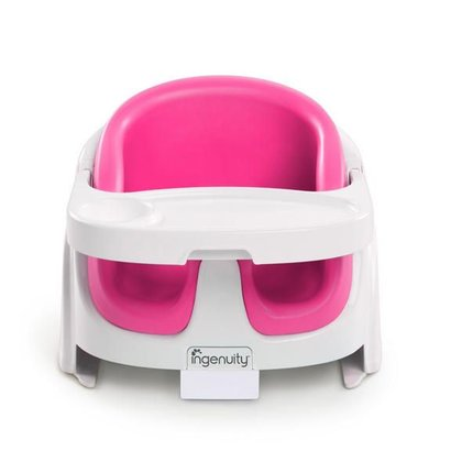 Ingenuity Baby Base 2 in 1 meegroei babystoel en stoelverhoger roze