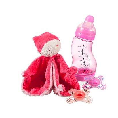 Difrax (Kraam)cadeau-/ giftset meisjes roze