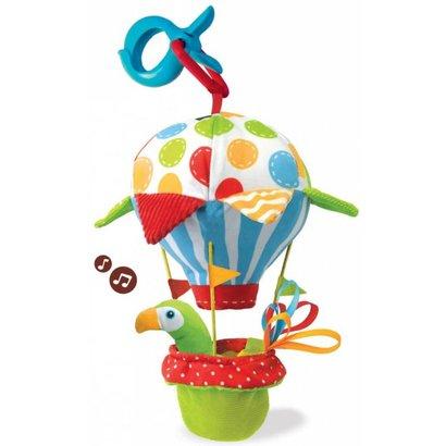 Yookidoo Clip babyspeeltje Tap 'n Play luchtballon met muziek en rammelaar