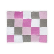 Jollein Boxkleed blocks Pink/Grey
