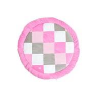 Jollein Boxkleed rond blocks pink/grey