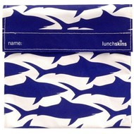 LunchSkins Sandwich bag - Navy Shark