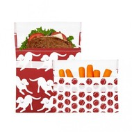 LunchSkins Sandwich bag -2-pack Red Canine