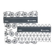 LunchSkins Sandwich bag -2-pack Charcoal Bicycle