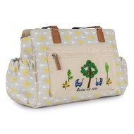 Pink Lining Luiertas - Twinsbag - Twice as Nice - Garden Birds Grey & Yellow