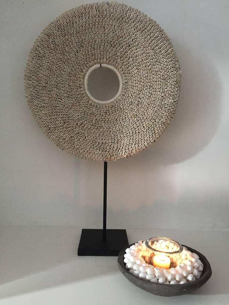 Schelpensnoer wit (L)