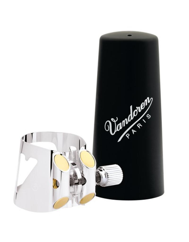 Vandoren Vandoren basklarinet rietbinder Optimum verzilverd met kunststof dop