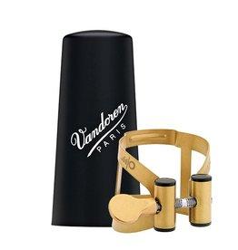 Vandoren tenorsaxofoon rietbinder M/O verguld met kunststof dop