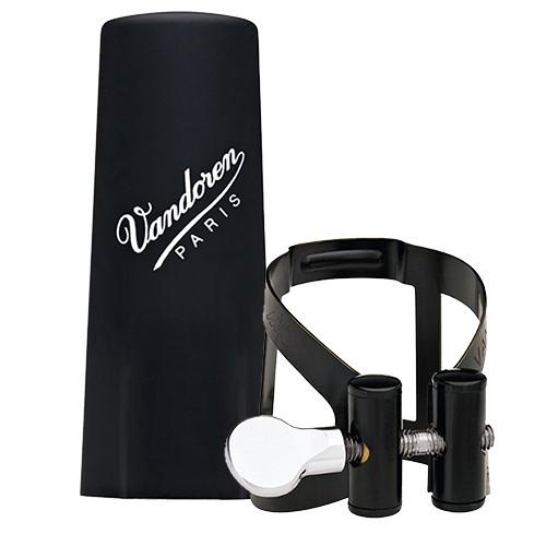 Vandoren Vandoren basklarinet rietbinder M/O zwart met kunststof dop