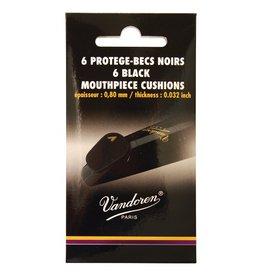 Vandoren mondstukplakkers dik en zacht zwart, 6 stuks.