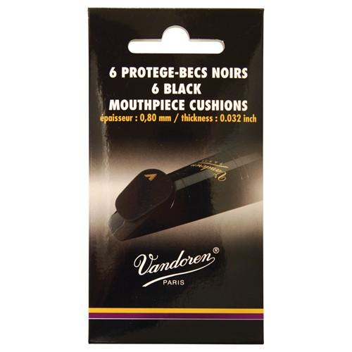 Vandoren Vandoren mondstukplakkers dik en zacht zwart, 6 stuks.