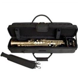 Protec Sopraansaxofoon koffer zwart voor rechte sopraan sax