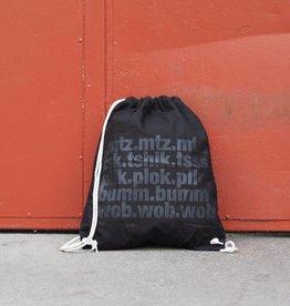 Workaholic Gym Bag Bumtschick, black on black, mtz