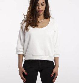 Workaholic Girlie Sweater, Morning Lights, white
