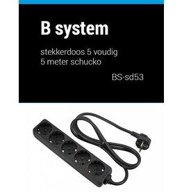 B System 3m Stekkerdoos 5 voudig voeding 3 meter BS-SD53