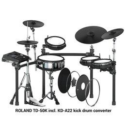 ROLAND TD-50K incl. KD-A22 kick drum converter