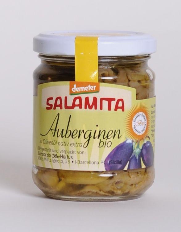 Salamita Auberginen in Olivenöl, 180gr im Glas