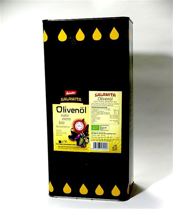 Salamita Demeter Olivenöl, im 5l Kanister