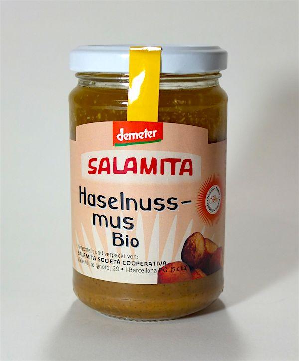 Salamita Demeter Haselnussmus pur 280gr im Glas