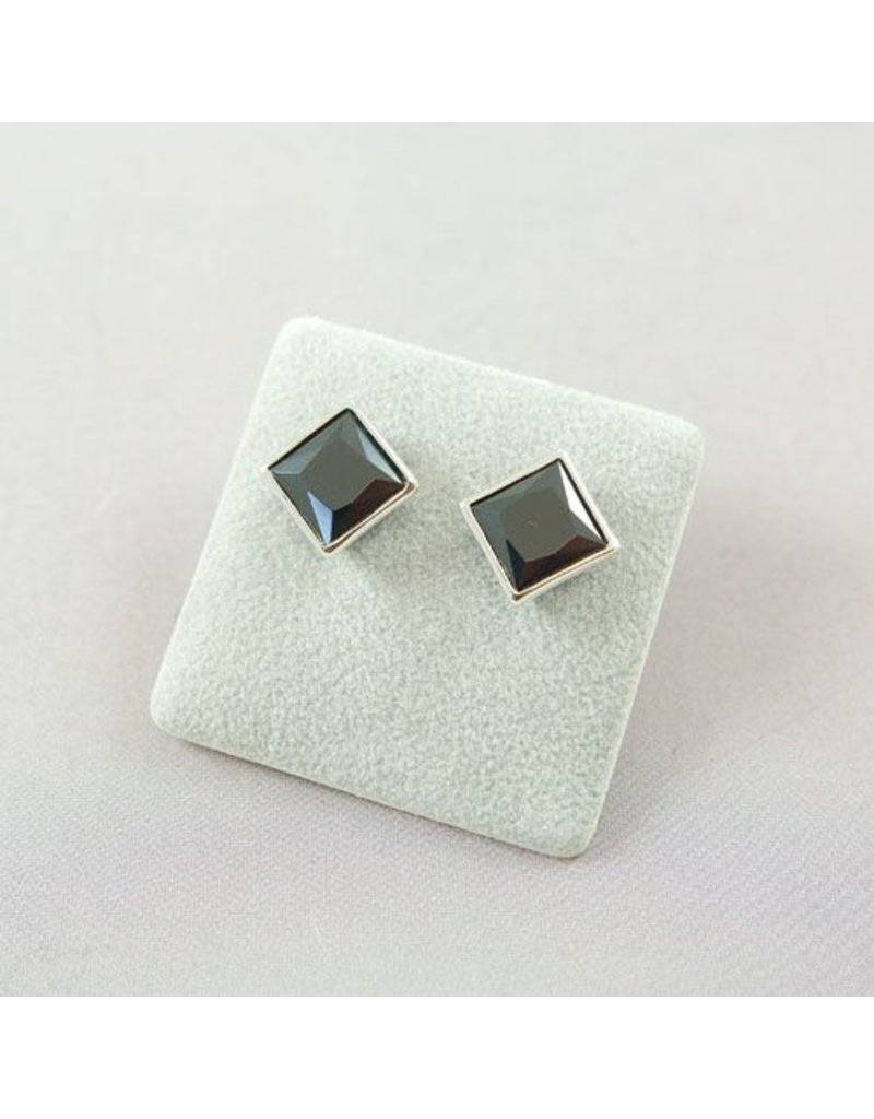LAVI Zircon ear studs Black