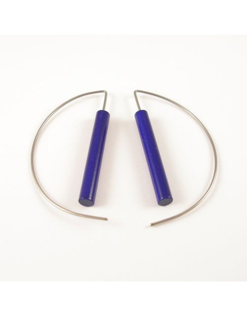 Modern Earrings - Metalic Purple
