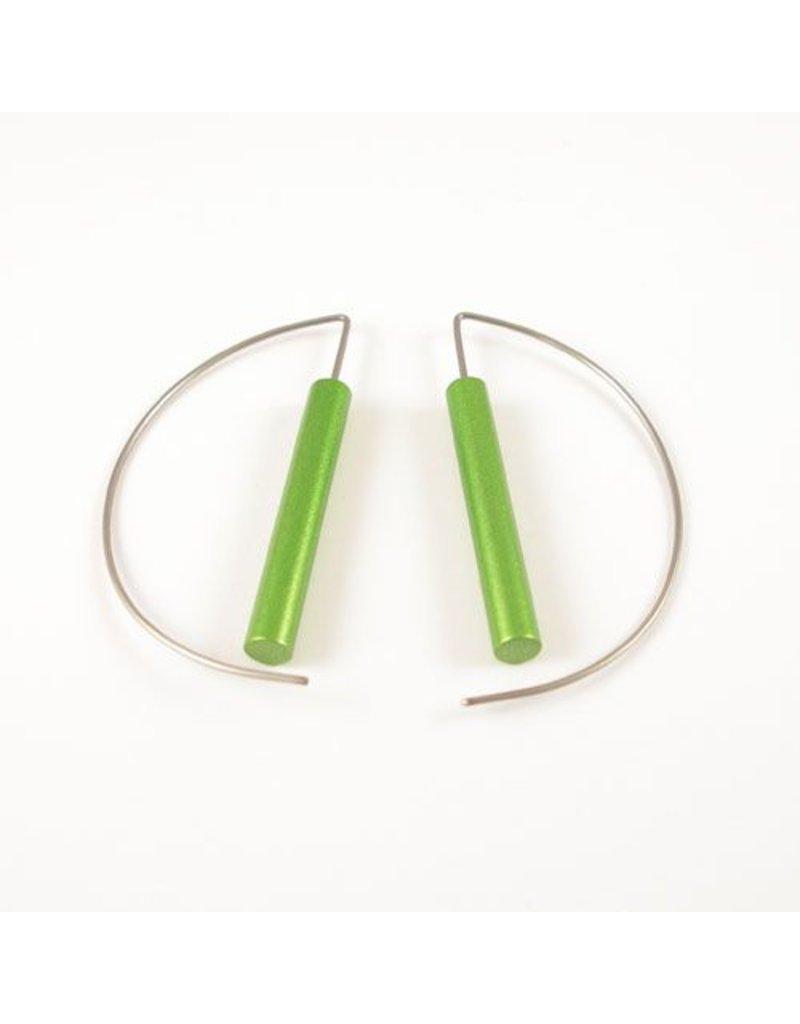 Modern Earrings - Green