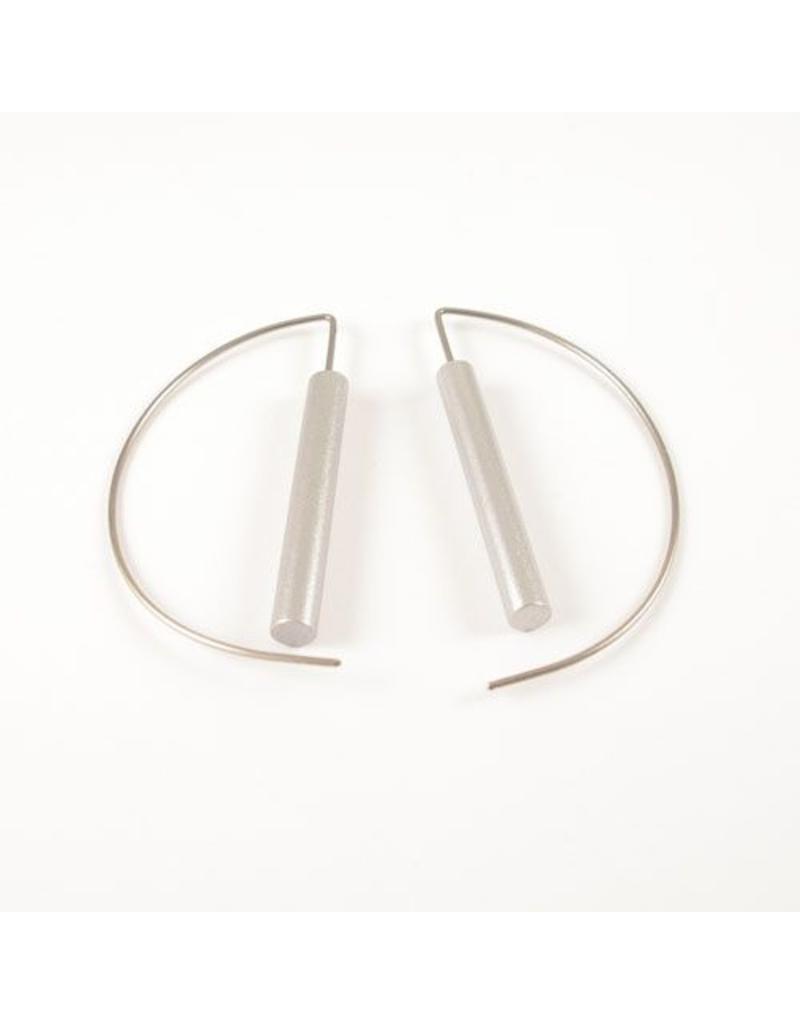 Modern Earrings - Grey