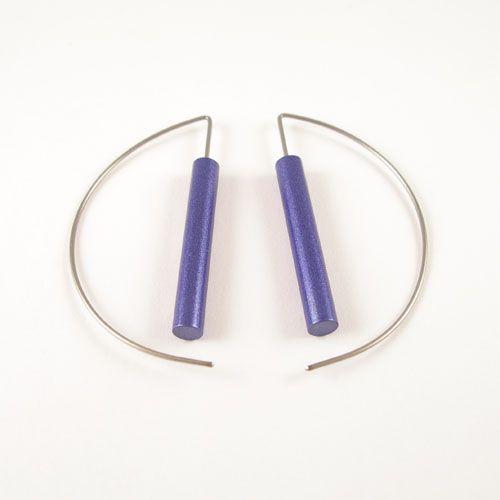Modern Earrings - Blue Purple