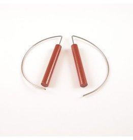 Moderne oorbellen - Bruin