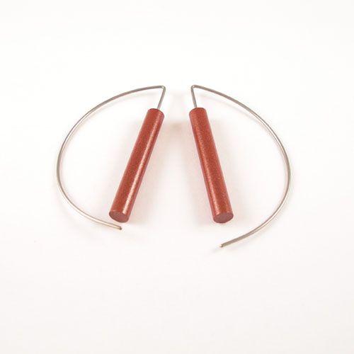 Modern Earrings - Brown