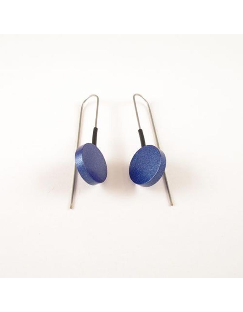 Modern Earrings Metalic Blue