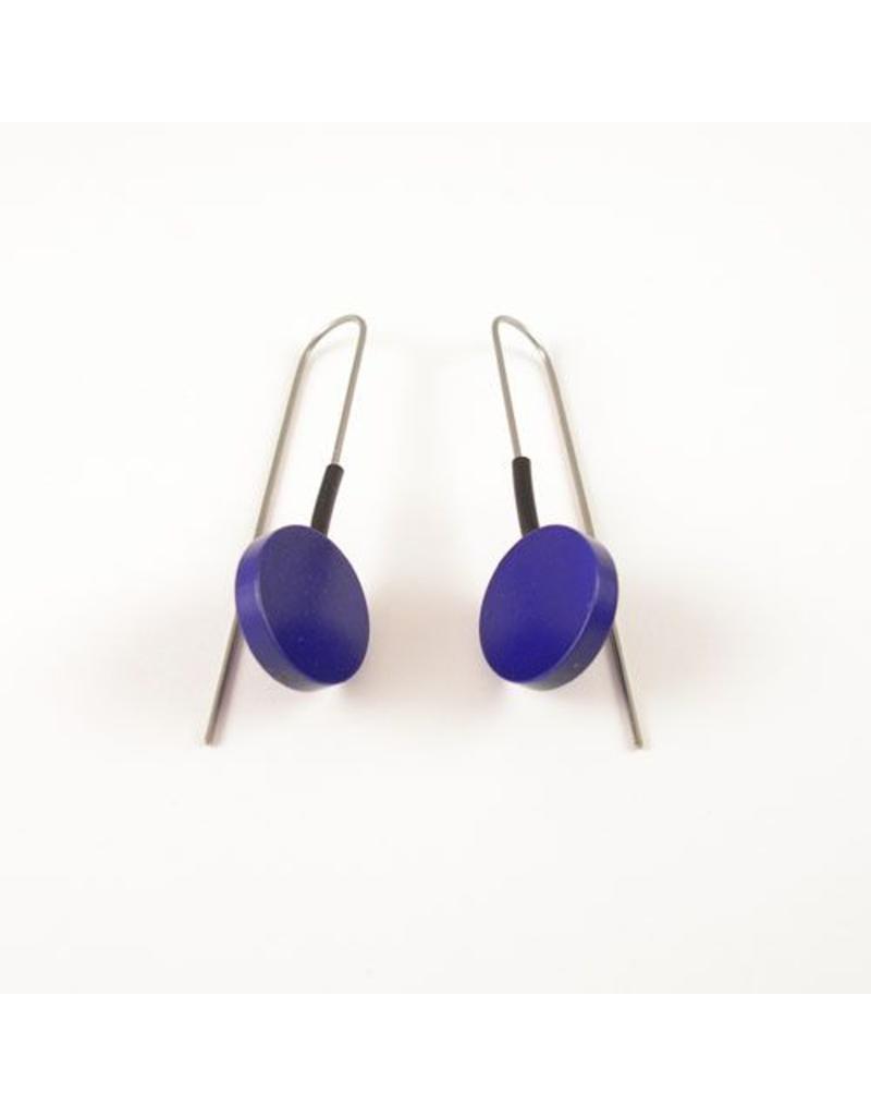 Modern Earrings Metalic Purple