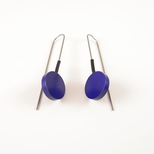 Modern Earrings Metalic Purple