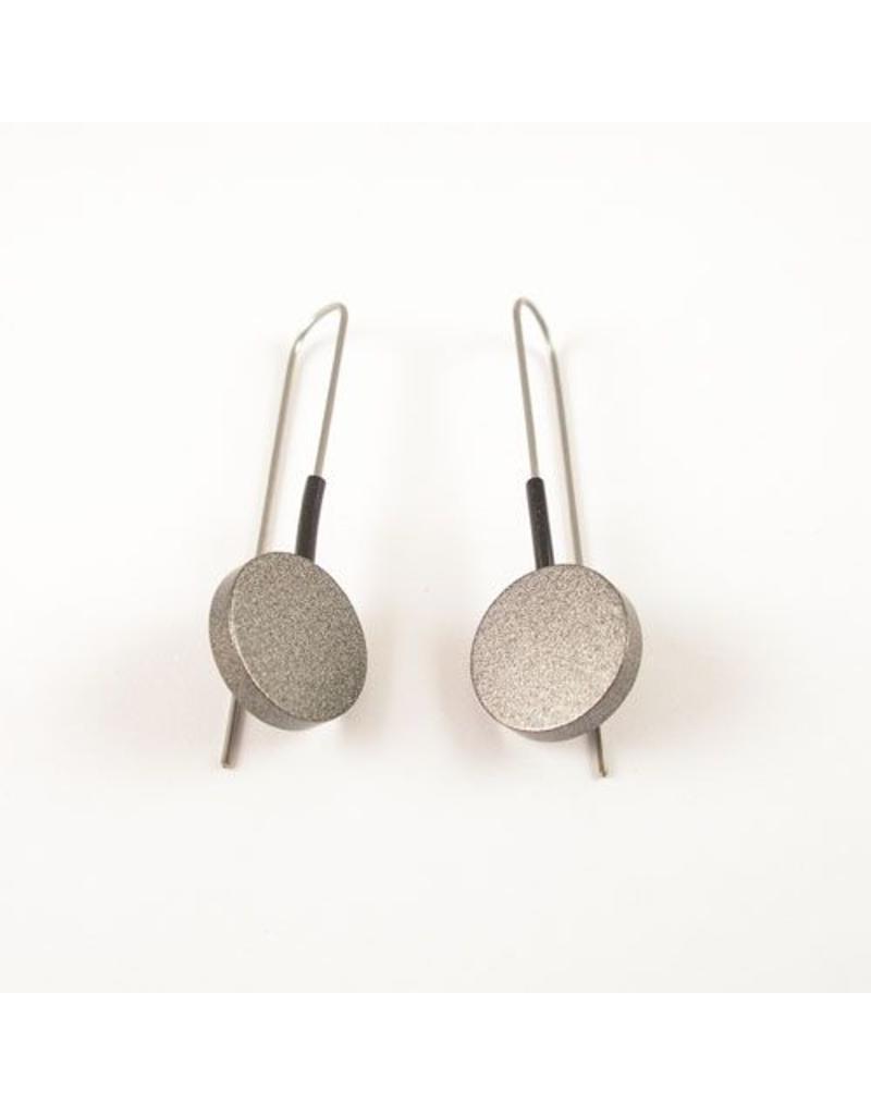 Modern Earrings Hard Coal