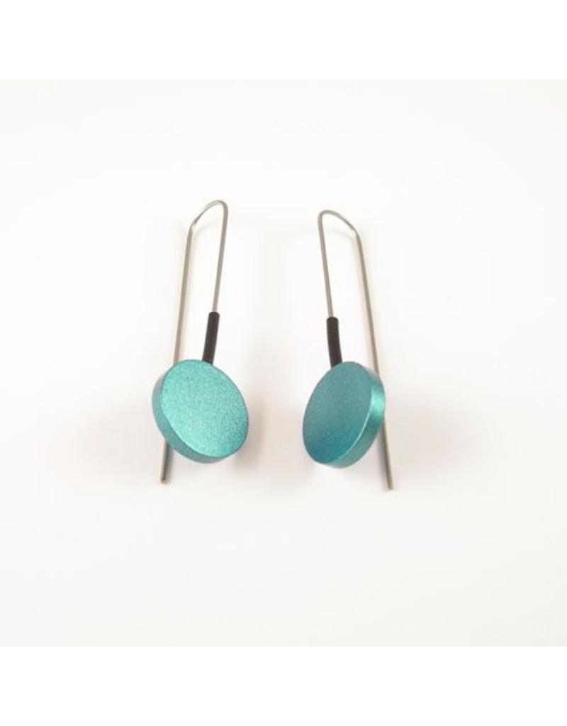 Modern Earrings Turquoise