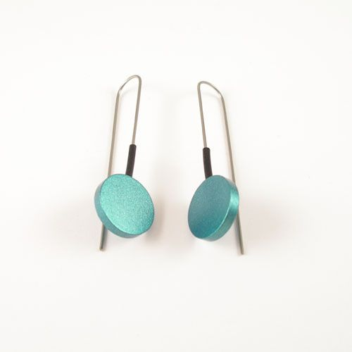 Modern Earrings Turquoise