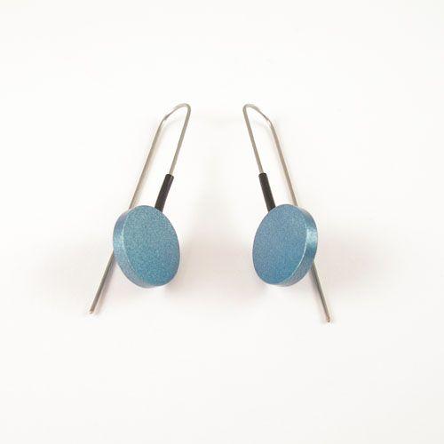 Modern Earrings Light Blue