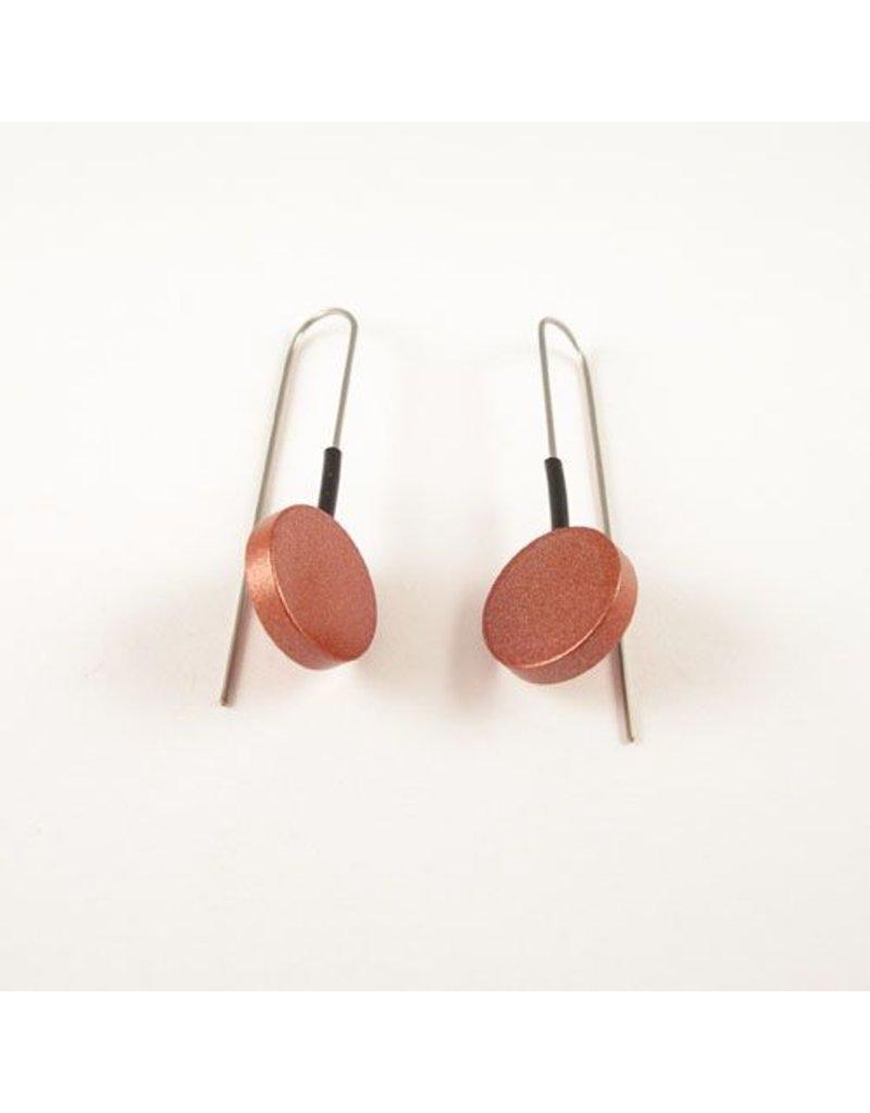 Modern Earrings Brown