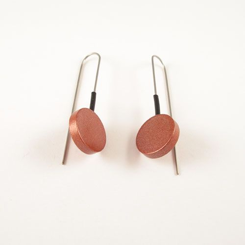 Modern Earrings Brown