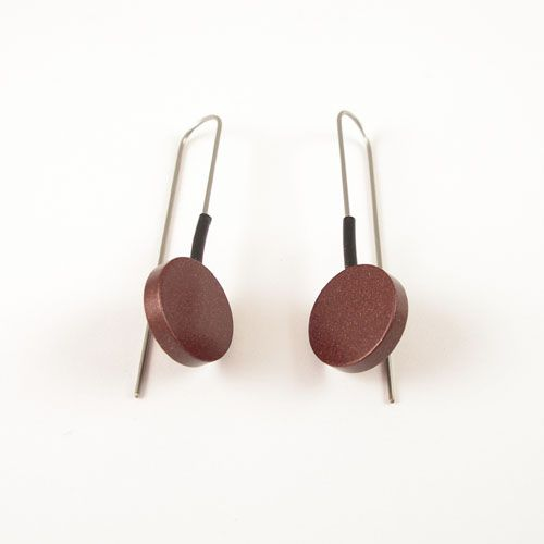 Modern Earrings Dark Brown