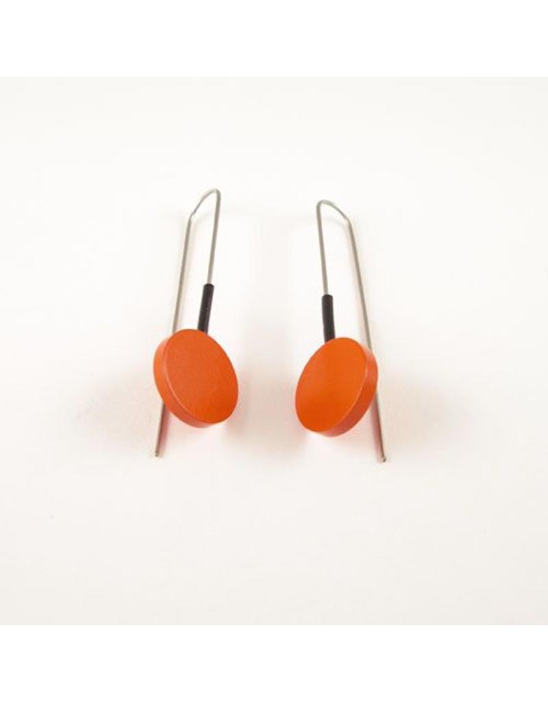Modern Earrings Orange